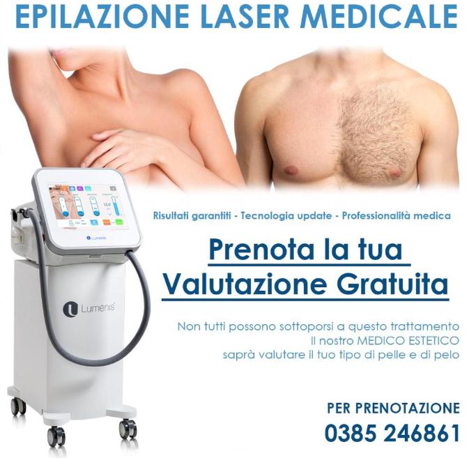 Epilazione laser medicale